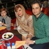 عکس جدید پویا امینی با همسر و فرزندش